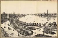 Vintage Pictorial Map of The Charles River (1886)