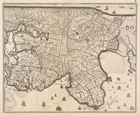 Vintage Map of Amsterdam Holland (1690)