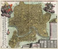 Vintage Map of Rome Italy (1716)