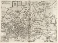 Vintage Pictorial Map of Rome Italy (1575)