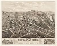 Vintage Pictorial Map of New Canaan CT (1878)