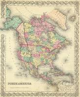 Vintage Map of North America (1856)