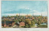 Vintage Pictorial Map of Petersburg VA (1880)