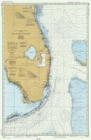 Florida Atlantic Coast Map (1982)