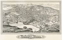 Vintage Pictorial Map of Woburn MA (1883)