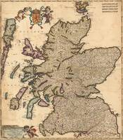 Vintage Map of Scotland (1690)