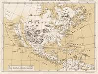 Vintage Map of North America in 1670 (1889)