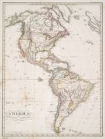Vintage Map of North and South America (1843)
