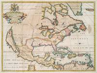 Vintage Map of North America (1719)