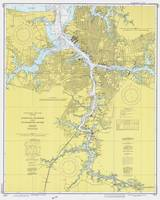 Norfolk VA, Porstmouth VA & Elizabeth River Map