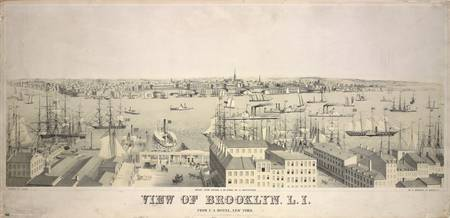 Vintage Illustrative View of Brooklyn NY (1846)