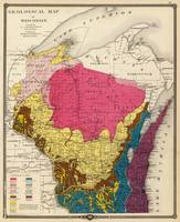 Vintage Wisconsin Geology Map (1878)