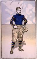 Vintage Illustration of a Football Player (1902)