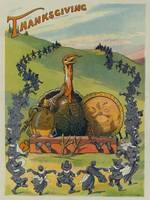 Vintage Thanksgiving Turkey and Feast Celebration