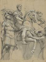 Vintage Marcus Aurelius on Horseback Illustration