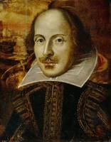 Vintage Portrait Painting of William Shakespeare (