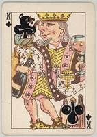 Vintage King of Clubs Playing Card (1889)