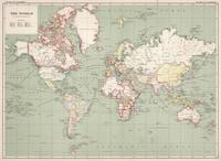 Vintage Map of The World (1915)