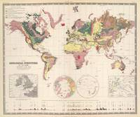 Vintage Geological Map of The World (1856)