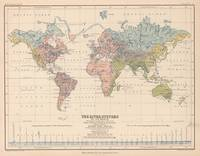Vintage River Systems World Map (1852)