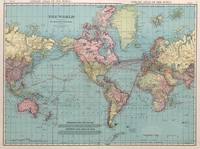 Vintage Map of The World (1912)