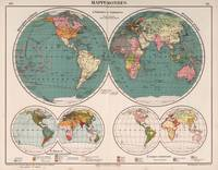 Vintage Map of The World (1921)
