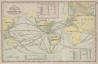 Vintage World Map Destination Distances (1901)