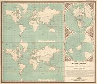 Vintage World Isotherm Map (1850)