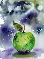 Green Apple Watercolors