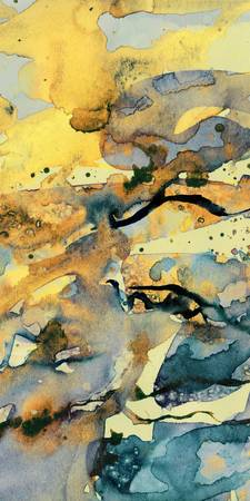 Beach Molten Maze Abstract 3 Watercolor