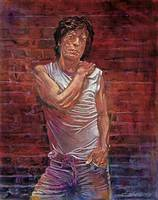 MICK AT THE WALL