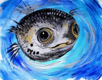 Abstract Puffer Fish,Two