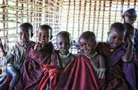 4239 Portrait of Young Maasai African Children Tan