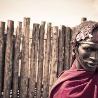 Maasai Warrior Ngorongoro 4117 Art Prints & Posters by Amyn Nasser