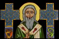 Saint Patrick with Celtic Crosses