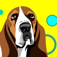 Basset Hound Art Prints & Posters by Pixel Paint Studio