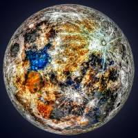 """A Mineral Map of the moon"" by cosmic_background"