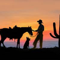 The Cowboy and His Companions Art Prints & Posters by Glenn Holbrook