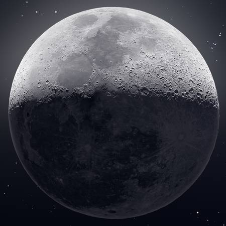 Our Moon in HDR (Up Close)