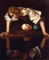 Narcissus by Caravaggio (1599)
