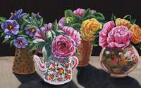 Garden Flowers In The Vases Floral Impressionism