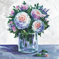 Gorgeous Flowers In The Glass Impressionism