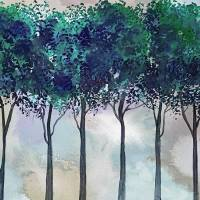 Watercolor Treeline Art Prints & Posters by RUTH PALMER