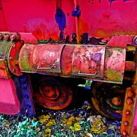 Dumper Platform Rolling Equipment Art Prints & Posters by Sandra Gould Ford