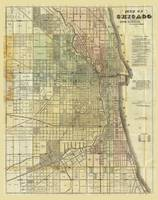 Map of Chicago, Illiinois by Rufus Blanchard (1857