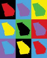 Georgia Pop Art State