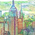 """Art Deco Midtown New York City Skyline"" by RDRiccoboni"