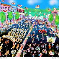 Parade & Title.psd Art Prints & Posters by Michael Ives