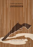 No1050 My UNFORGIVEN minimal movie poster