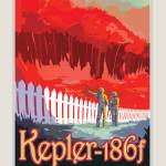 """NASA Kepler-186f Space Travel Poster"" by FineArtClassics"